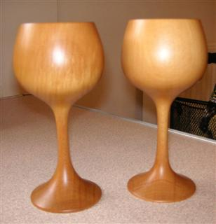 Geoff's winning pair of goblets