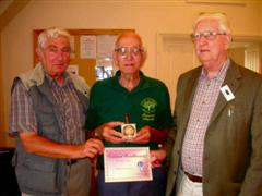 The monthly Highly commended Bernard Slingsby received his certificate