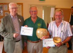 Graham Holcroft and Bill Burden received a commended certificate