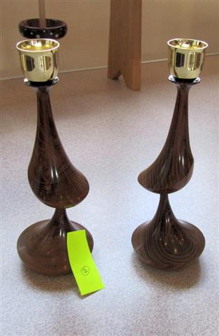 Howard Overton won Joint second place with these candlesticks
