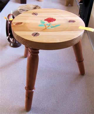 Three legged stool by Norman Smithers