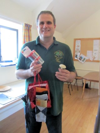 And the winner is..... Paul complete with his prize of a darning kit and a few pairs of socks to practice on