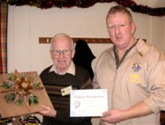 John Brocklehurst received a commended certificate from Tony Handford