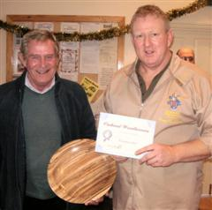 Bill Burden received a commended certificate from Tony Handford