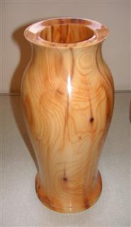 Tall yew vase by Norman Smithers