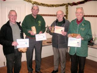 The competition winners for December Pat Hughes Bernard Slingsby Bert Lanham and Keith Leonard
