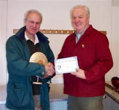 Mike Windsor gets a commended certificate