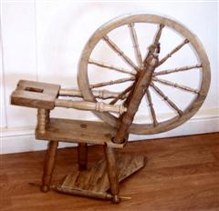 Spinning wheel in the making by Alan Smith