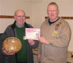 The monthly Highly commended Pat Hughes received his certificate from Tony Handford