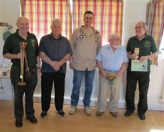 Winners of the July certificates with Richard Findley