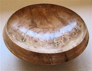 Norman's highly commended oak burr bowl