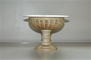 Pedestal bowl by Pat Hughes