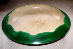 Ash bowl with tinted edge by Norman Smithers