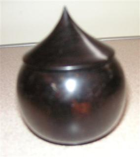 Ebony onion pot by Paul Hunt