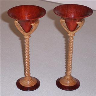 Pair of goblets by David Ward