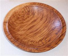 Burr oak platter by David Ward