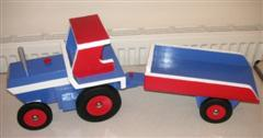 Toy tug and trailer by Brian Love