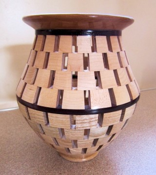 Open segmen vase by Chris Withall