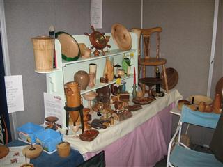 Part of the display and raffle setup
