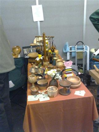 The charity sale table